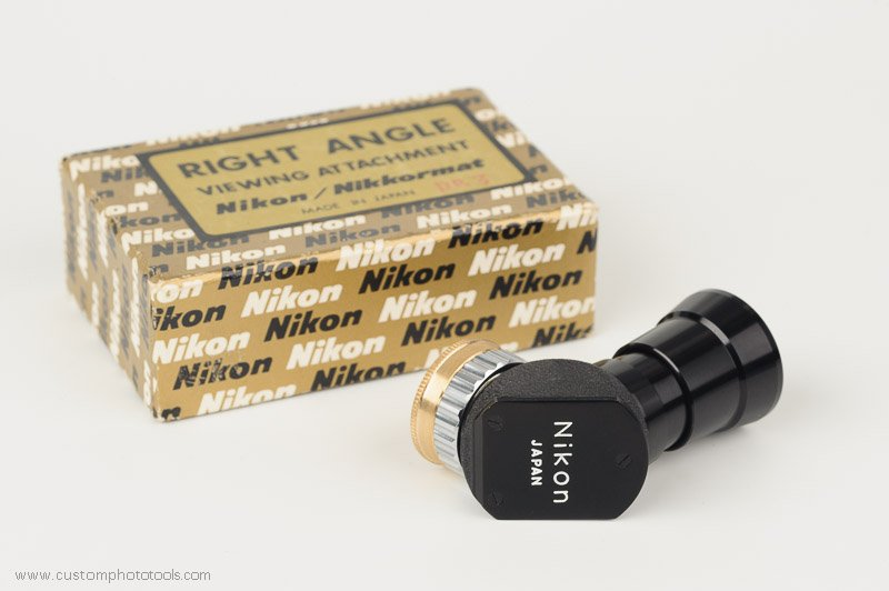 Brass adapter and threaded cap for Nikkormat right angle viewfinder